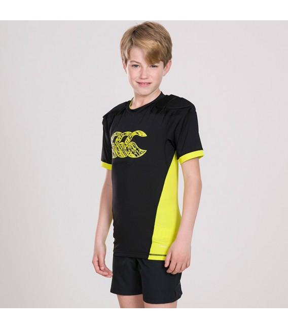 Hombrera junior Canterbury Vapodri Raze Vest negro-amarillo