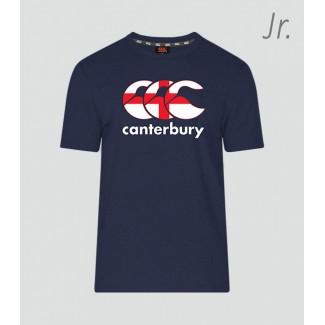 Camiseta junior Inglaterra Seis Naciones navy
