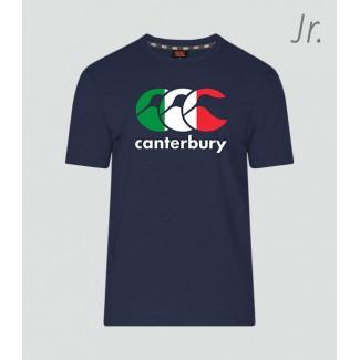 Camiseta junior Italia Seis Naciones navy