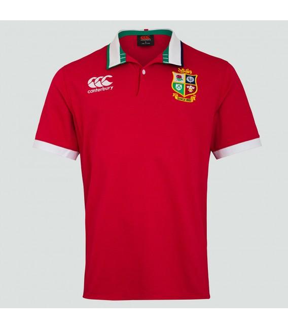 Polo clásico British & Irish Lions ss rojo