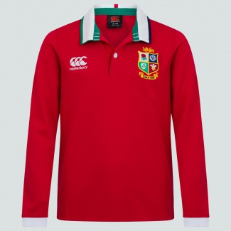 Polo clásico British & Irish Lions ls rojo