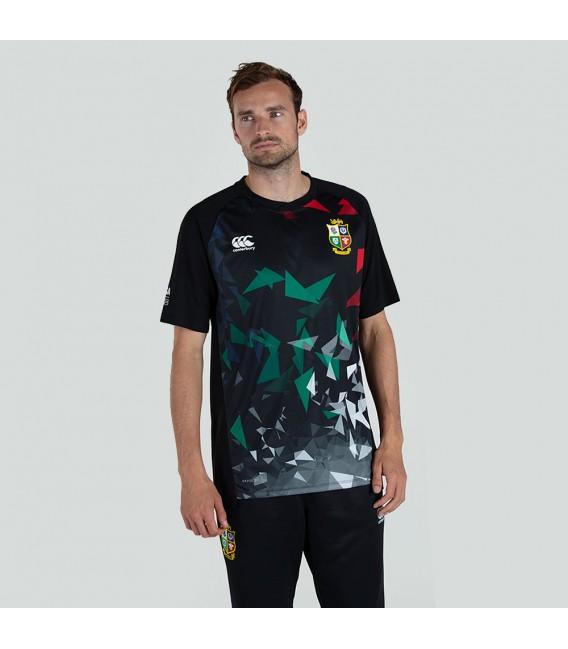 Camiseta técnica British & Irish Lions negra