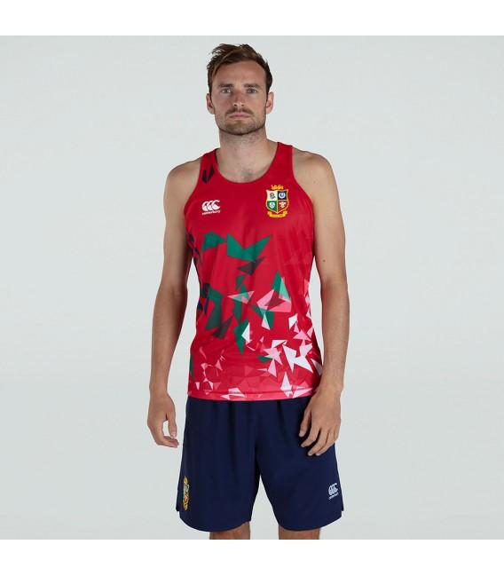 Camiseta tirantes British & Irish Lions roja